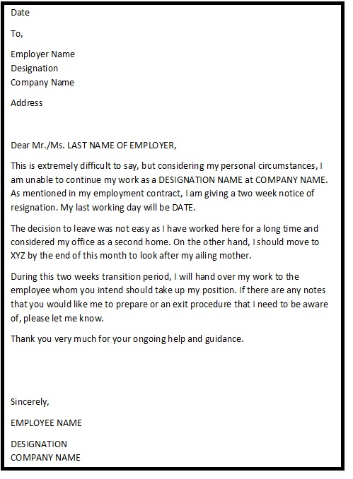 resignation letter help How to write a resignation letter  the help in the wording of the letter and the tips for professionalism really helped me stick to a format that will never.