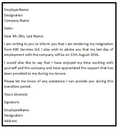 Resignation Letter Sample For Employee from www.resignationletterhelp.in